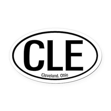 Cleveland, Ohio Oval Car Magnet