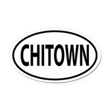 Chitown Oval decal Oval Car Magnet