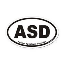 Autism Spectrum Disorder ASD Euro Oval Car Magnet