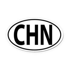 CHN - China Oval Car Magnet