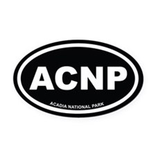 Acadia National Park Black Euro Oval Car Magnet