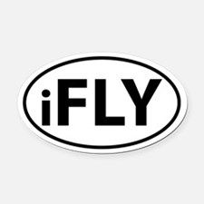 iFly Oval Car Magnet Oval Car Magnet