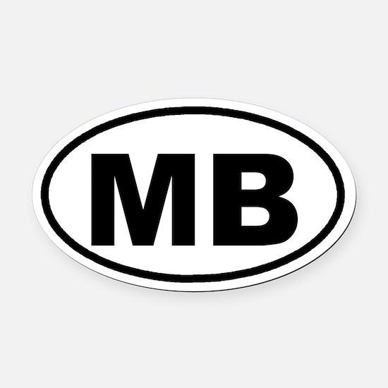 MB Myrtle Beach, SC Euro Oval Car Magnet