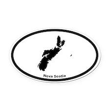 Nova Scotia Canada Outline Oval Car Magnet