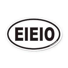 EIEIO Euro Oval Car Magnet