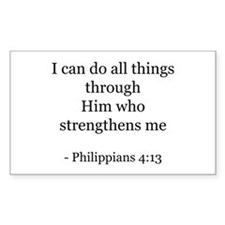 Phillipians 4:13 Rectangle Decal