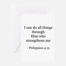 Phillipians 4:13 Greeting Cards (Pk of 10)