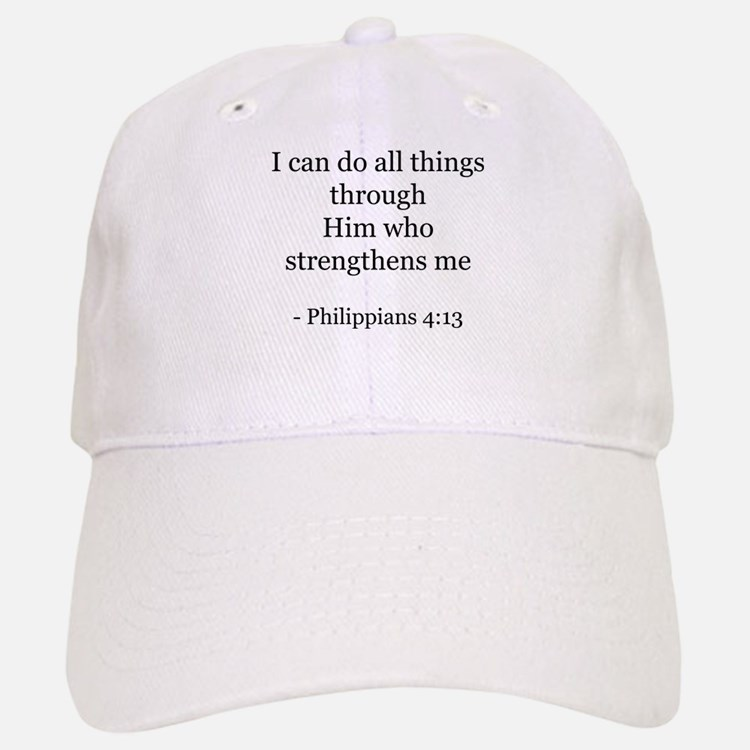 Phillipians 4:13 Baseball Baseball Cap