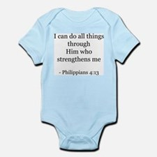 Phillipians 4:13 Infant Creeper