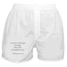 Phillipians 4:13 Boxer Shorts