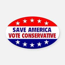 Save America Oval Car Magnet