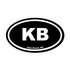 KB Kure Beach Black Euro Oval Car Magnet