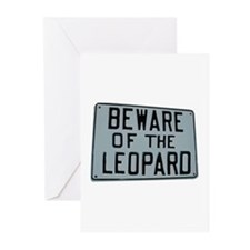 BEWARE OF THE LEOPARD Greeting Cards (Pk of 10