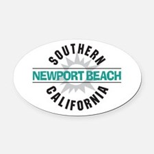 Newport Beach California Oval Car Magnet
