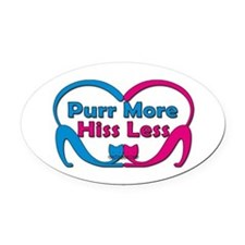 Purr More Oval Car Magnet