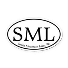 SML Smith Mountain Lake Oval Car Magnet