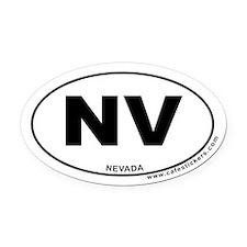 Nevada Oval Car Magnet