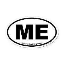 "Mechanical Engineer ""ME"" Oval Car Magnet"
