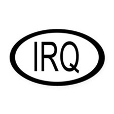Iraq Car Oval Car Magnet / Decal (Oval)