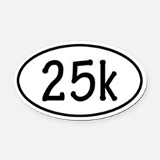 25k Oval Car Magnet