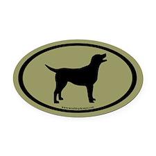 labrador retriever oval (blk/sage) Oval Car Magnet