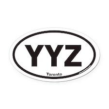 YYZ Toronto Canada Airport Code Euro Oval Car Magn