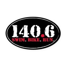 140.6 Swim Bike Run Oval Car Magnet