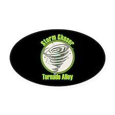 Storm Chaser Logo Oval Car Magnet
