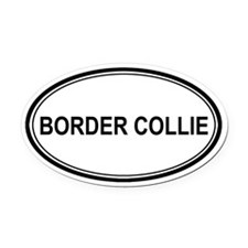 Border Collie Euro Oval Car Magnet
