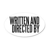 Film director Oval Car Magnets