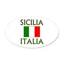 Sicilia, Italia Oval Car Magnet