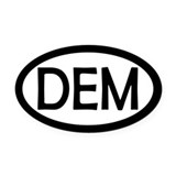 Democratic Oval Car Magnets