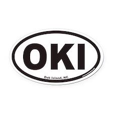Oak Island OKI Euro Oval Car Magnet