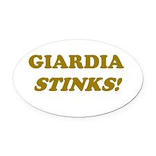 Giardia Stinks Oval Car Magnet