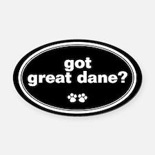 Got Great Dane? Oval Car Magnet