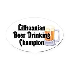 Lithuanian Beer Champ Oval Car Magnet