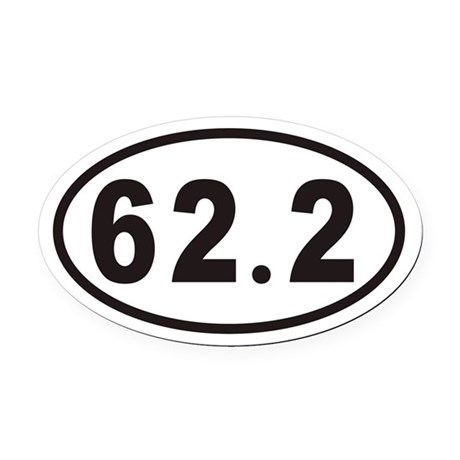 62.2 Euro Oval Car Magnet