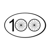 100 mile bike ride Oval Car Magnets