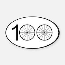 Century Ride Oval Car Magnet