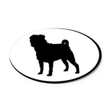 Pugmobile Oval Car Magnet