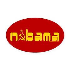 Comrade NOBAMA Oval Car Magnet