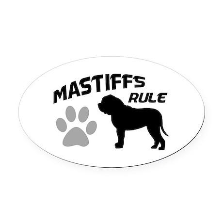 Mastiffs Rule Oval Car Magnet