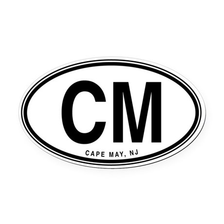 Cape May Plain Oval Car Magnet