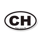 Copper harbor oval Oval Car Magnets