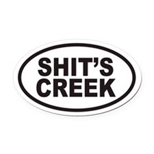 SHIT'S CREEK Euro Oval Car Magnet