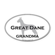 Great Dane GRANDMA Oval Car Magnet