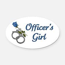 Officer's Girl Oval Car Magnet