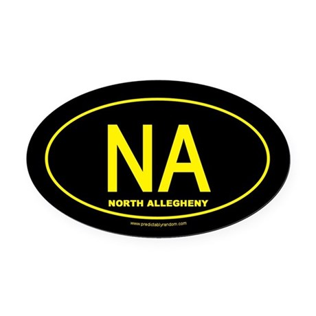 North Allegheny Oval Car Magnet