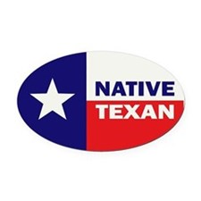 Native Texan Oval Car Magnet