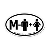 Marriage one man one woman Oval Car Magnets